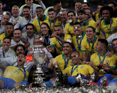 Jesus takes centre stage as Brazil win Copa America