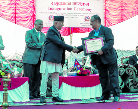 Newly-built hospital buildings handed over to govt