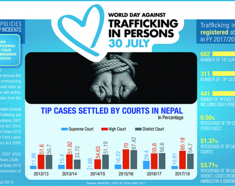 Infographics: Tip cases settled by courts in Nepal