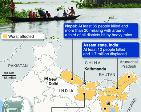 Infographics: Dozens dead in India, Bangladesh, Nepal floods