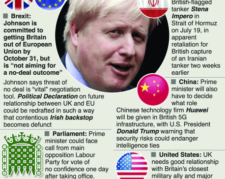 Infographics: Next UK premier faces crises at home and abroad