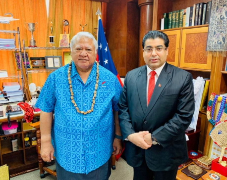 Ex-minister Dhakal meets with political leaders in Pacific islands