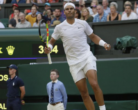Plenty of dramatics as Nadal tops Kyrgios at Wimbledon