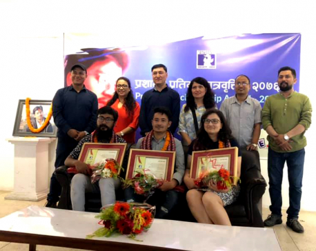 Three arts students received 'Prashant Talent Scholarship'