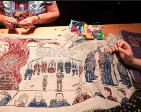 'Game of Thrones' series embroidered into 90m long tapestry