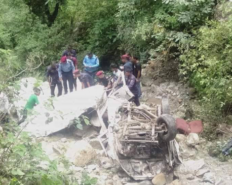 3 killed, 5 injured in Gulmi jeep accident
