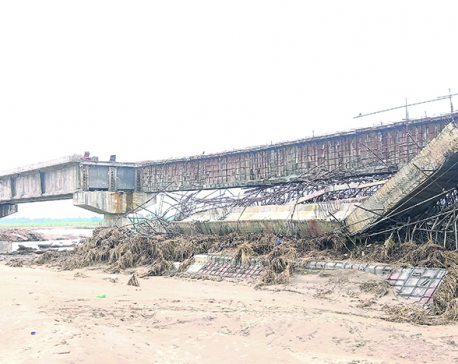 Under-construction Bagmati bridge in limbo again