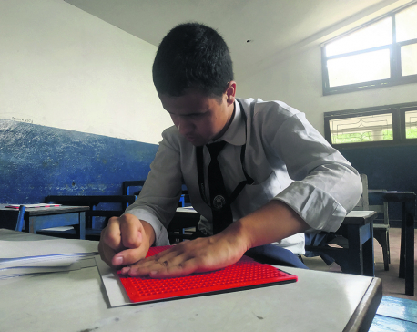 Lack of transcribers hinders schooling for visually impaired