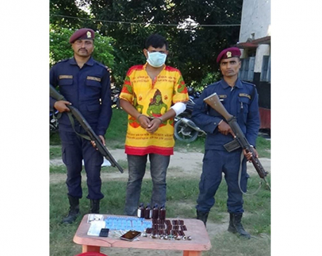 One man arrested with huge cache of drugs in Udayapur