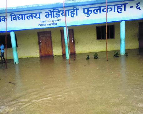 60 percent schools in Mahottari inundated