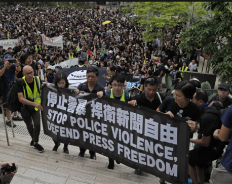 China defends Hong Kong police, blames Western forces