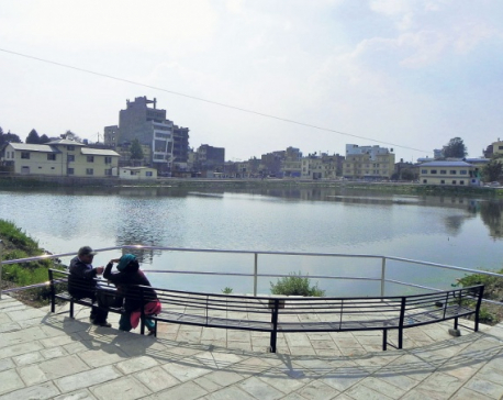 Reconstruction of Kamal Pokhari begins