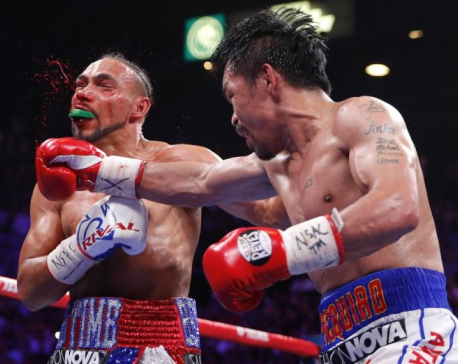 Manny Pacquiao beats Keith Thurman by split decision