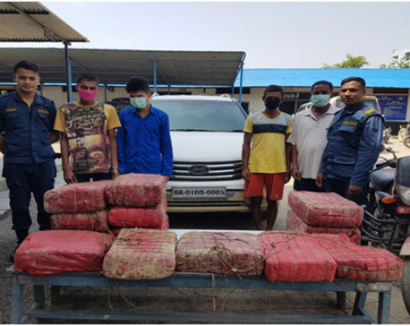 Four arrested with 120 kgs of Marijuana