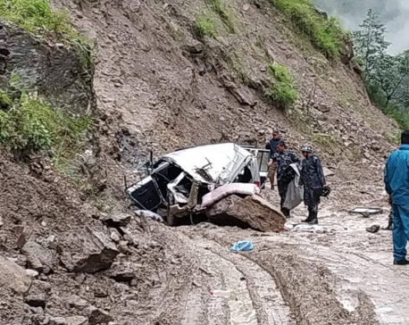 2 killed in Rasuwa as landslide buries jeep