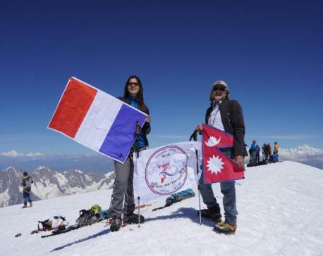 Shrinkhala Khatiwada scales Mont Blanc