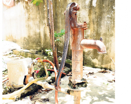 Declining underground water level triggers water shortage in Tarai