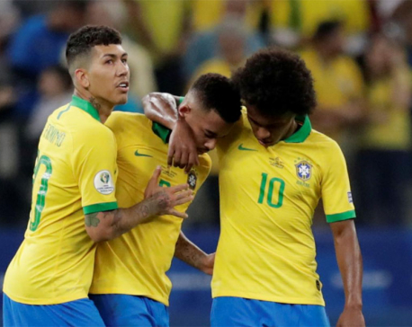 Classy Brazil crush Peru to reach Copa last eight