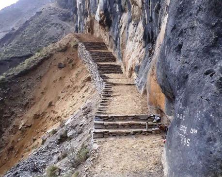 Trekking route to Dhaulagiri base camp repaired, widened