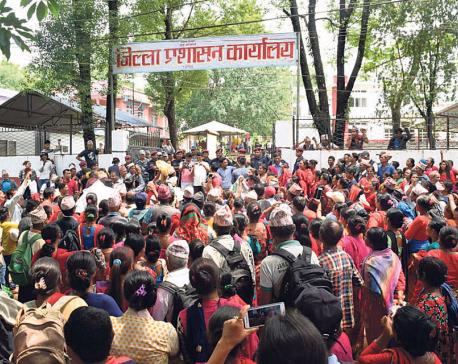 Dhading farmers protest fertilizer shortage