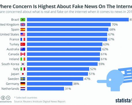 Infographics: Where concern is highest about fake news on the internet