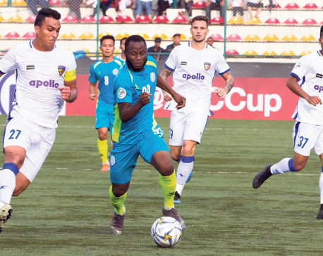Manang falls to late goal in five-goal thriller against Chennaiyin
