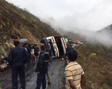 Three killed, 14 injured in Okhaldhunga bus accident