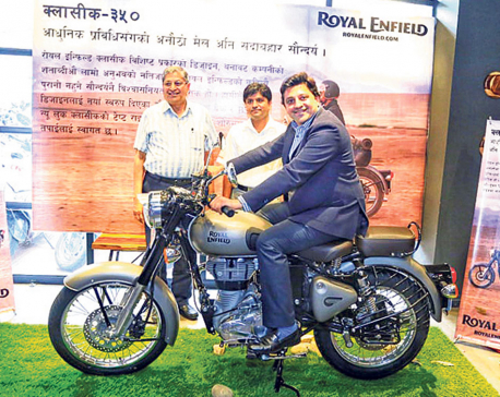 Royal Enfield Gunmetal Grey now in Nepal
