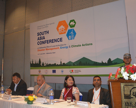 Home Minister Thapa stresses cooperation to tackle climate change