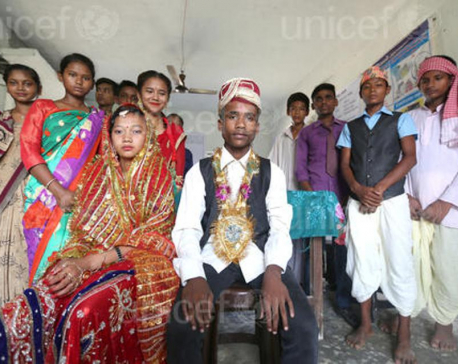 Nepal among top 10 countries for prevalence of child marriage among boys, says UNICEF