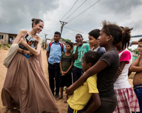 Angelina Jolie urges international support for Venezuelan children