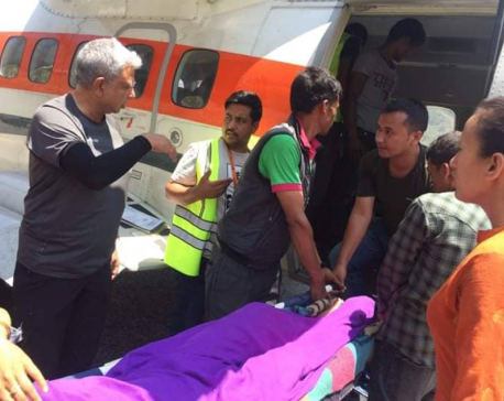 Woman rescued via air from Bajura