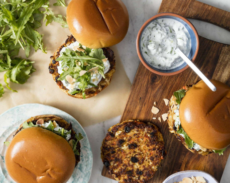 These cauliflower burgers are bursting with complex flavor
