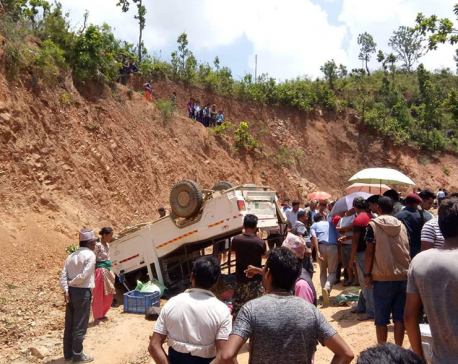 UPDATE: Bolero mishap claims five, injures ten in Dhading