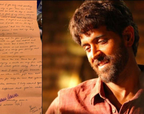 Hrithik Roshan shares a fan's handwritten letter, sends him love