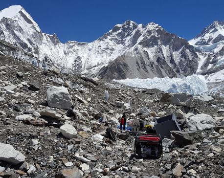 Coldest glacier ice in Khumbu region measured at just -3.3 degree Celsius