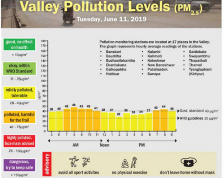 Valley Pollution Levels for June 11, 2019