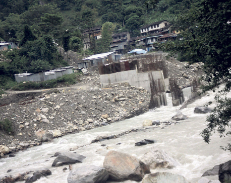 Construction of Madyamodi hydel project resumes