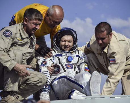 Canadian, Russian, American back on Earth from space station