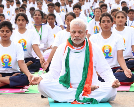 "India's PM Modi to lead 30,000 participants on ""International Yoga Day"""