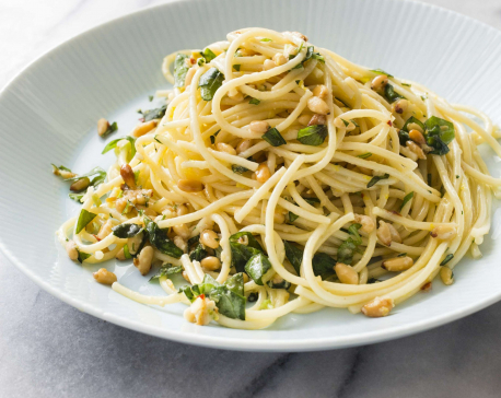 Tame your spaghetti monster with this easy garlicky dish