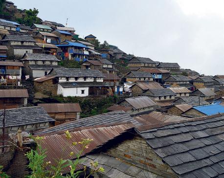 Bhujung, a tourist destination in Lamjung, declared 'cleanest village'