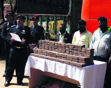 Police seize 105 kg hashish from bus