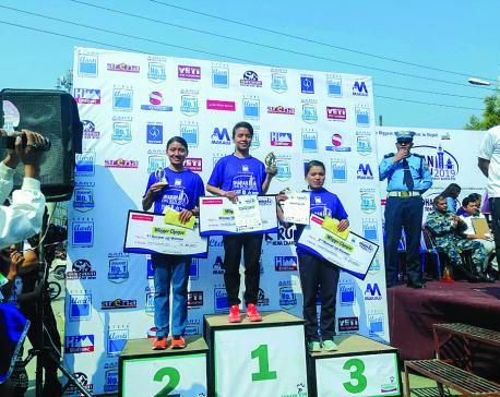Pun, Koju win Dharan marathon