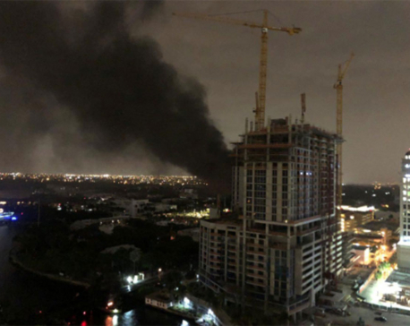 Electrical fire darkens much of Fort Lauderdale, Florida