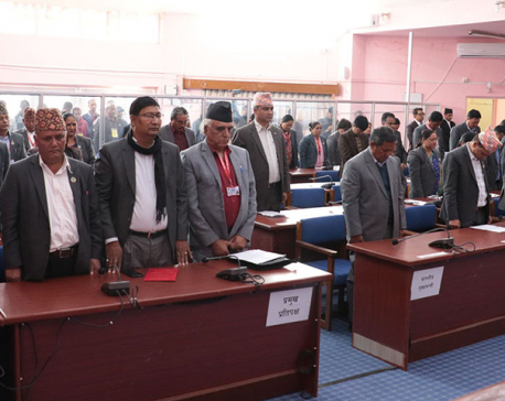Gandaki State Assembly passes condolence motion