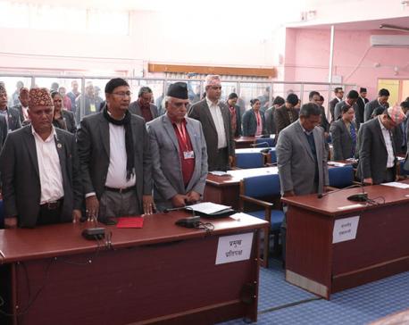 Gandaki State Assembly passes condolence motion