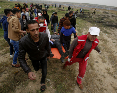 Rockets from Gaza Strip hit Israel; 4 die at border protest