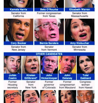 Infographics: Democratic contenders for 2020
