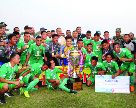 Army clinches Jhapa Gold Cup title